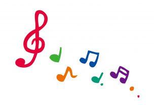 音楽に合わせて♪